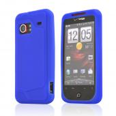 HTC Droid Incredible Silicone Case, Rubber Skin - Dark Blue