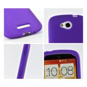 Purple Silicone Case for HTC One VX
