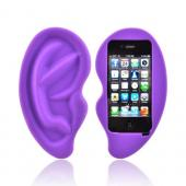 Apple iPhone 4/4S Silicone Case - Purple Ear