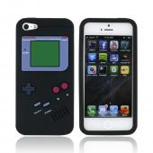 Apple iPhone 5/5S Silicone Case - Black Retro Gamer