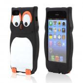 Black/ White Owl Silicone Skin Case for Apple iPhone 5C