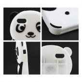 Black/ White Panda Bear Silicone Skin Case for Apple iPhone 5C
