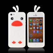 Apple iPhone 5/5S Silicone Case - White Duck