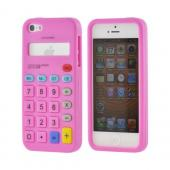 Apple iPhone 5/5S Silicone Case - Hot Pink Calculator