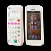 Apple iPhone 5 Silicone Case - White Calculator