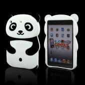 Black/ White Panda w/ Belly Button Silicone Case for Apple iPad Mini