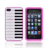AT&T/ Verizon Apple iPhone 4, iPhone 4S Silicone Case - Hot Pink Piano