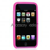 Apple iPod Touch 2 & 3 Silicone Case, Rubber Skin - Hot Pink