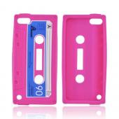 Apple iPod Touch 5 Silicone Case - Hot Pink Cassette