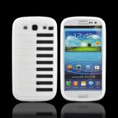 Samsung Galaxy S3 Silicone Case - Black/ White Piano