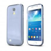 Smoke w/ Frosted Back Crystal Silicone Skin Case for Samsung Galaxy S4 Mini
