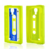 Neon Green Cassette Silicone Case for Samsung Galaxy S4