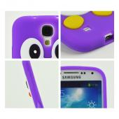 Purple Penguin Silicone Case for Samsung Galaxy S4
