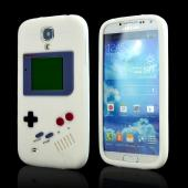 White Retro Gamer Silicone Case for Samsung Galaxy S4