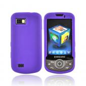 Samsung Behold 2 T939 Silicone Case, Rubber Skin - Purple