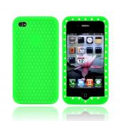 Apple Verizon/ AT&T iPhone 4, iPhone 4S Silicone Case w/ Embedded Gems - Green