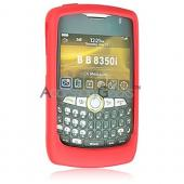 Blackberry Curve 8350i Premium Silicone Case, Rubber Skin - Red