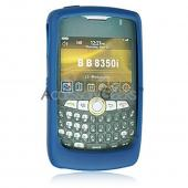 Blackberry Curve 8350i Premium Silicone Case, Rubber Skin - Blue
