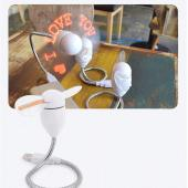 Red LED Programmable Message Fan W/ Custom Drawing - USB Powered