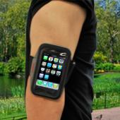Universal Neoprene Armband Case for Cell Phones, iPhone, Blackberry, & MP3 Players - Black