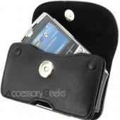 Leather Wallet Pouch w/ Button Closure - Black, PUT SIZE
