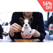 Brown/ White Boston Terrier w/ Red Bowtie OEM MyPetCase Plush Snap On Case for iPhone 5/5S