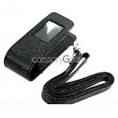Samsung Juke Fashion Pouch w/ Window & Strap - Sparkling Black