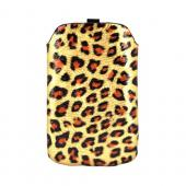 Blackberry Storm 9530/ Touch 9630 Vertical Sleeve Pocket - Gold/ Black Leopard