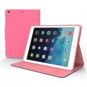 Hot Pink/ Baby Pink CellLine Faux Leather Diary Flip Case w/ ID Slots, Bill Fold, & Magnetic Closure for Apple iPad Air