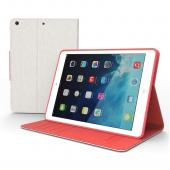 White/ Hot Pink CellLine Faux Leather Diary Flip Case w/ ID Slots, Bill Fold, & Magnetic Closure for Apple iPad Air