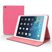 Hot Pink/ Baby Pink  Faux Leather Diary Flip Case w/ ID Slots  Bill Fold  Magnetic Closure for Apple iPad Mini 1/2/3