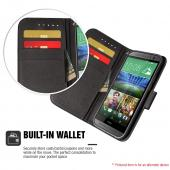ZTE Warp Elite Wallet Case [Black] Featuring Faux Leather Flip Cover, ID Slots, Bill Fold & Snap Close Magnet