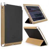 Black/ Brown iRoo LS-Series Faux Leather Slide-In Case w/ Smart Cover for Apple iPad 3/4