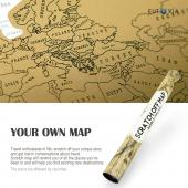 Travel Scratch World Map (34x20 inch) - Track Places Where You've Been To!