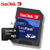 SanDisk 2GB Micro SD Memory Card with SD Adapter