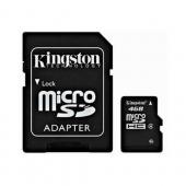 Kingston 4GB Micro SDHC Memory Card w, SD Adapter