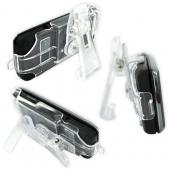 Original LG Voyager VX10000 Holster w/ Belt Clip & Stand - Clear, MHIY0006401