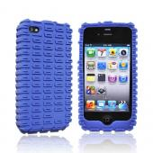Original Gumdrop Moto Apple iPhone 4 Silicone Case, MOTO4G-BLU - Blue