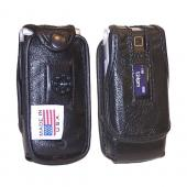 Original TurtleBack Premium Motorola W385 Leather Case w/ Swivel Belt Clip - Black