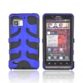 Original Nex Motorola Droid Bionic XT875 Rubberized Hard Fishbone on Silicone Case w/ Screen Protector, MOTXT875FB06 - Blue/ Black