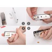 Micro Sim Card Cutter to Nano Sim Card Size w/ Adapters