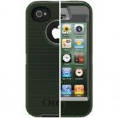 OTTERBOX APL2-I4SUN-E4-E4OTR_A IPHONE 4S DEFENDER SERIES CASE (GUNMETAL GREY/ENVY GREEN SLIP COVER)