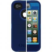 OTTERBOX APL2-I4SUN-E7-E4OTR_A IPHONE 4S DEFENDER SERIES CASE (OCEAN/NIGHT BLUE SLIP COVER)