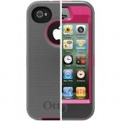 OTTERBOX APL2-I4SUN-J2-E4OTR_A IPHONE 4S DEFENDER SERIES CASE (PEONY PINK/GUNMETAL GREY)