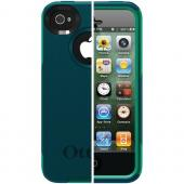 OTTERBOX APL4-I4SUN-F6-E4OTR_A IPHONE 4S COMMUTER SERIES CASE (DEEP TEAL/LIGHT TEAL SLIP COVER)