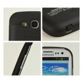 Samsung Galaxy S3 Hard Charging Case w/ LED Power Indicator - Black w/ Carbon Fiber Design