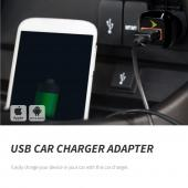 USB Car Charger Adapter (850 mAh) by Sprint® [Versatile, Compatible with both male Android and Apple chargers USB chargers]