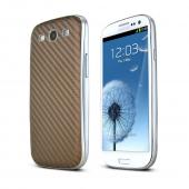 Copper Carbon Fiber Design Samsung Galaxy S3 Textured Battery Door Case