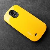 RS Yellow/ Black Slim Hard Cover Case on Tough Silicone Hybrid Case for Samsung Galaxy S4