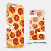 [Pizza] Custom Printed Heat Sublimation Design Hard Plastic Case Cover for Apple iPhone 5/5S w/ Free Screen Protector!